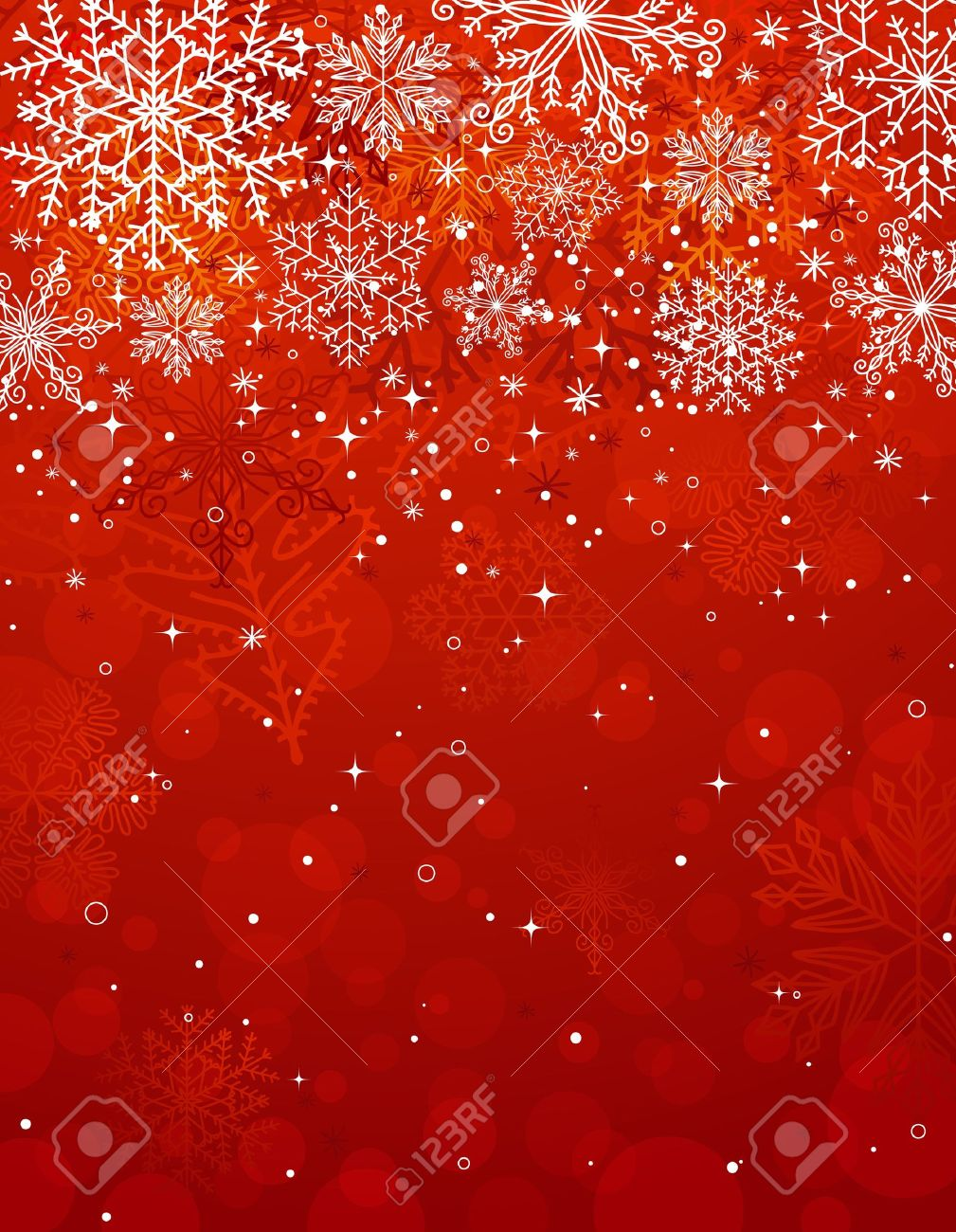 Red Christmas Background.Red Christmas Background With Snowflakes