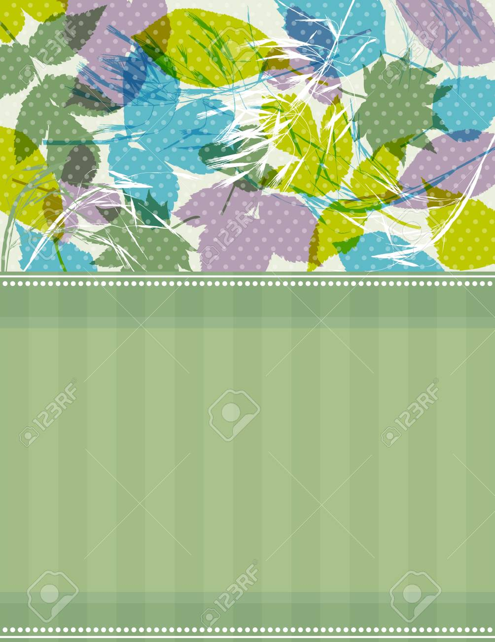 background with many tracing silhouettes of  leafs. Stock Vector - 13383613
