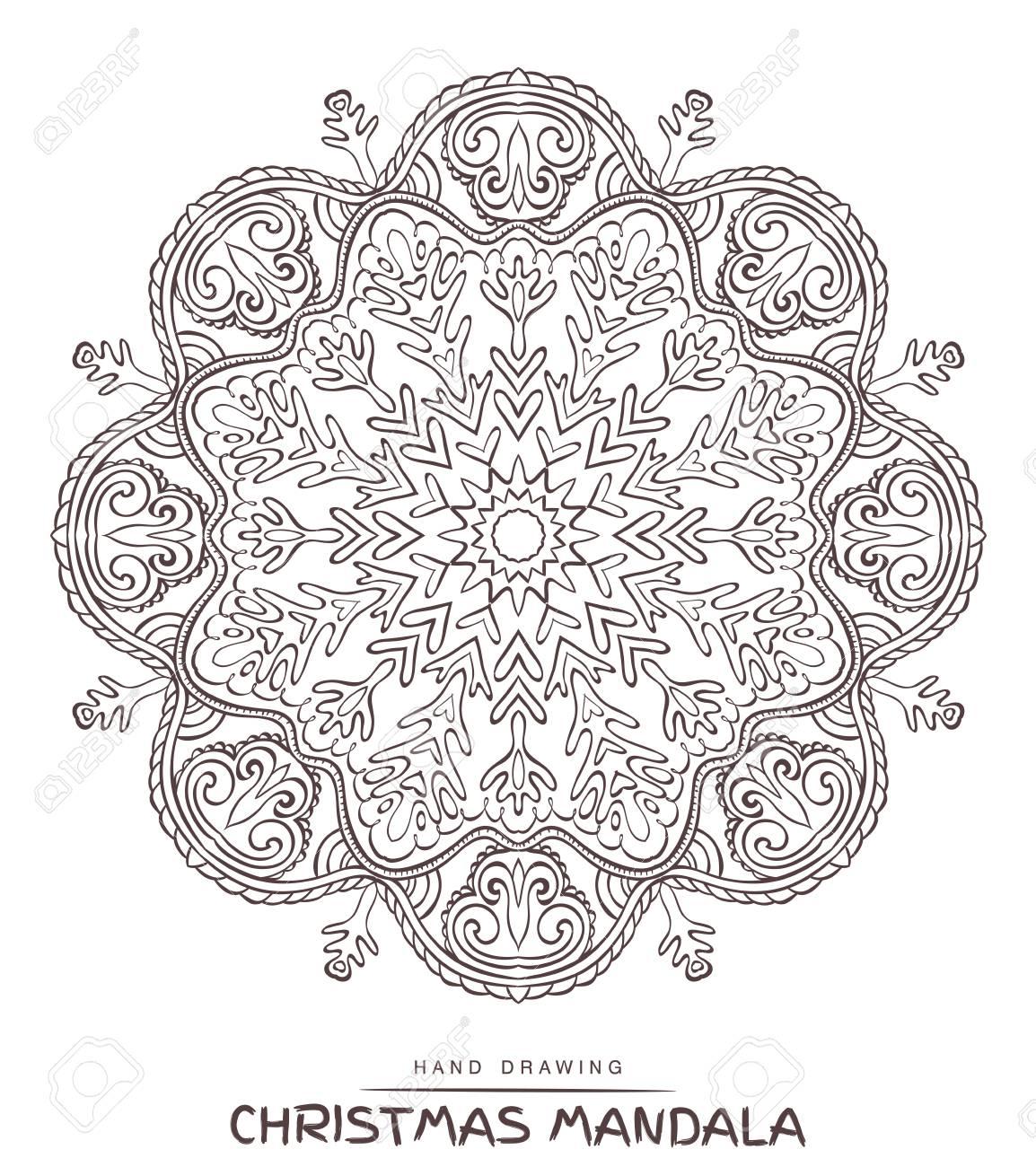 Mandala Del Vector Para Colorear Con Elementos Decorativos De ...