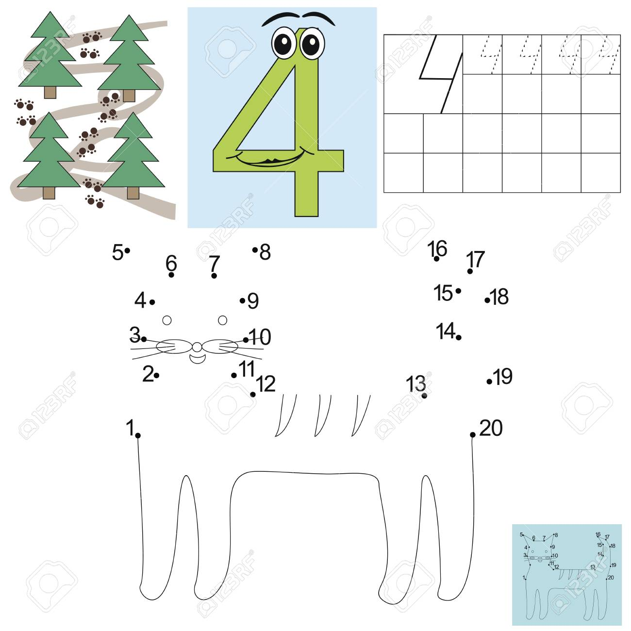 Aufgabe Für Die Kinder In Der Mathematik. Abbildung Vier. Schließen ...