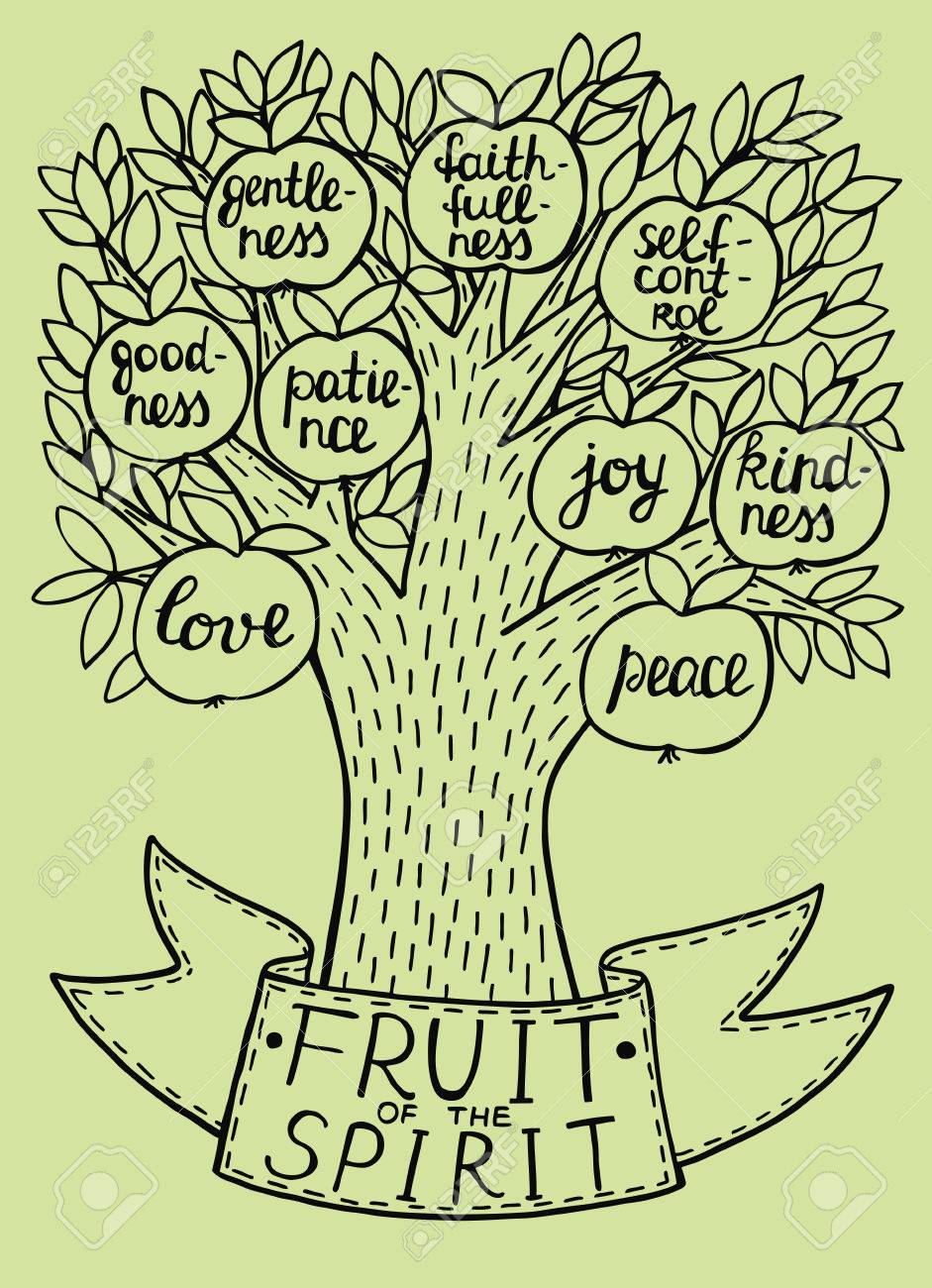 Biblical Illustration From The New Testament Fruit Of The Spirit ...