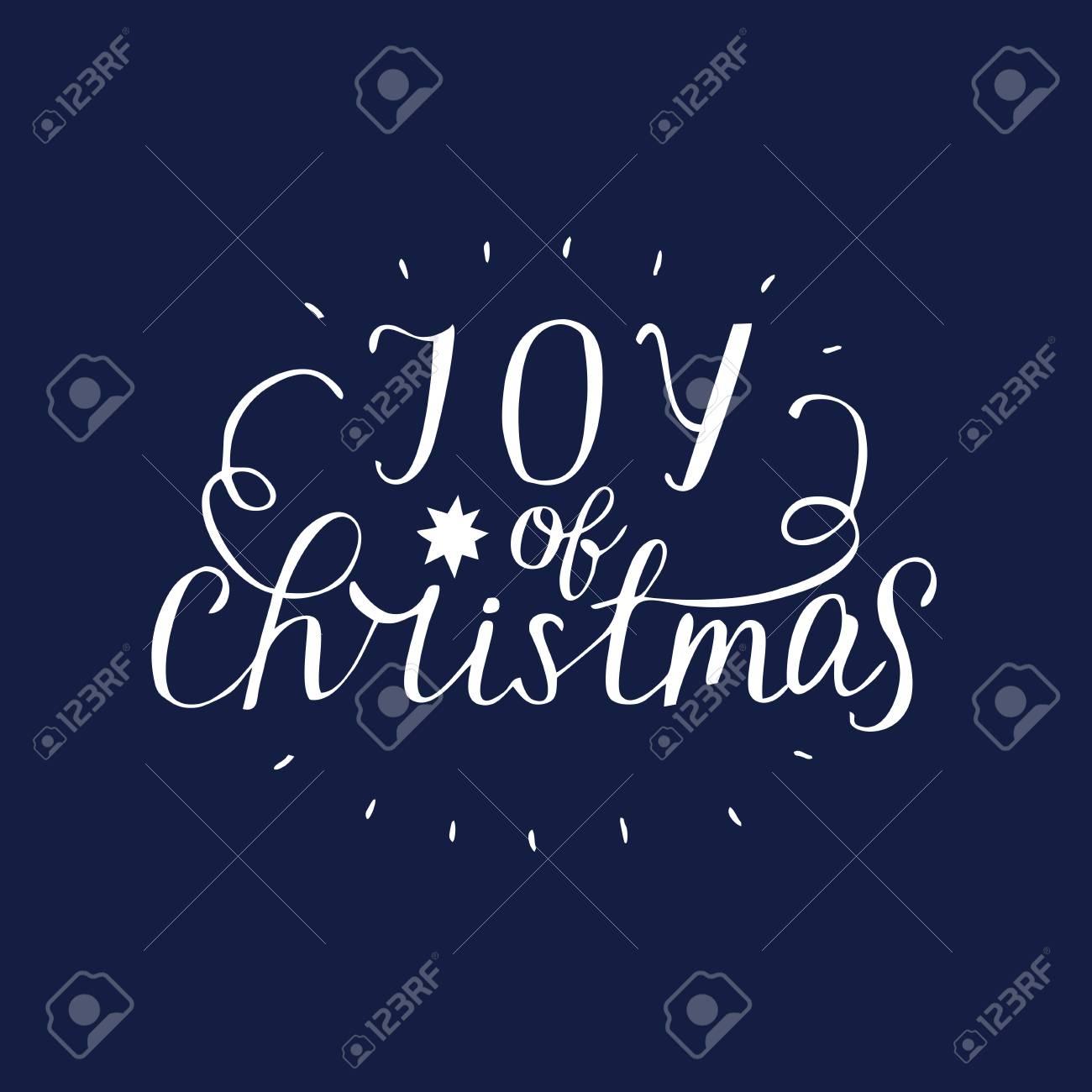 Christmas Background Christian.Hand Lettering Joy Of Christmas Biblical Background Christian
