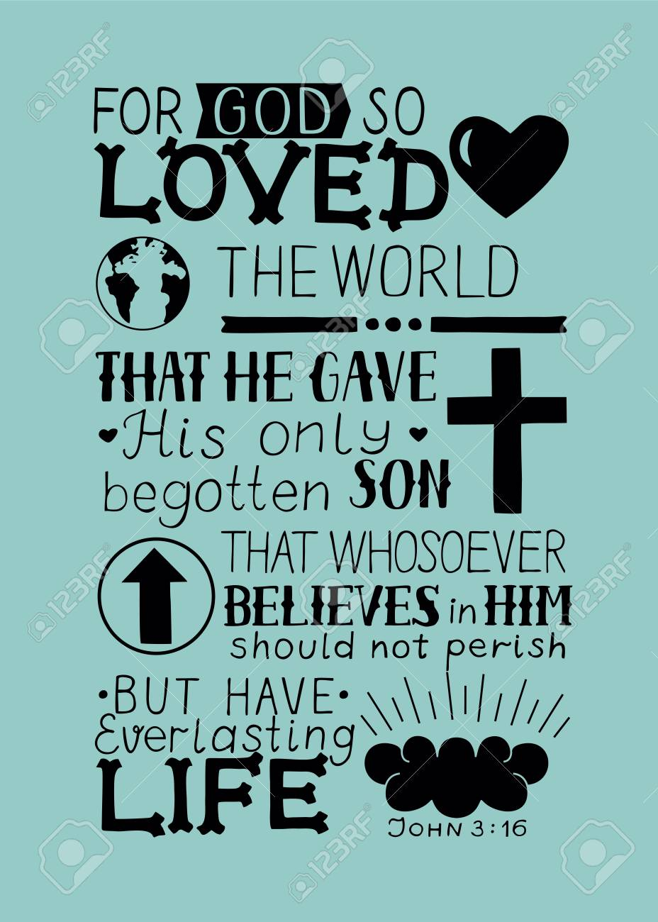 Golden Bible Verse John 3 16 For God So Loved The World Made