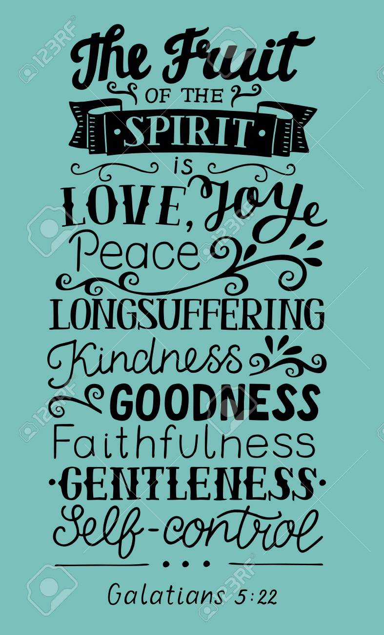 Hand Lettering The Fruit Of The Spirit . Bible Verse. Christian ...