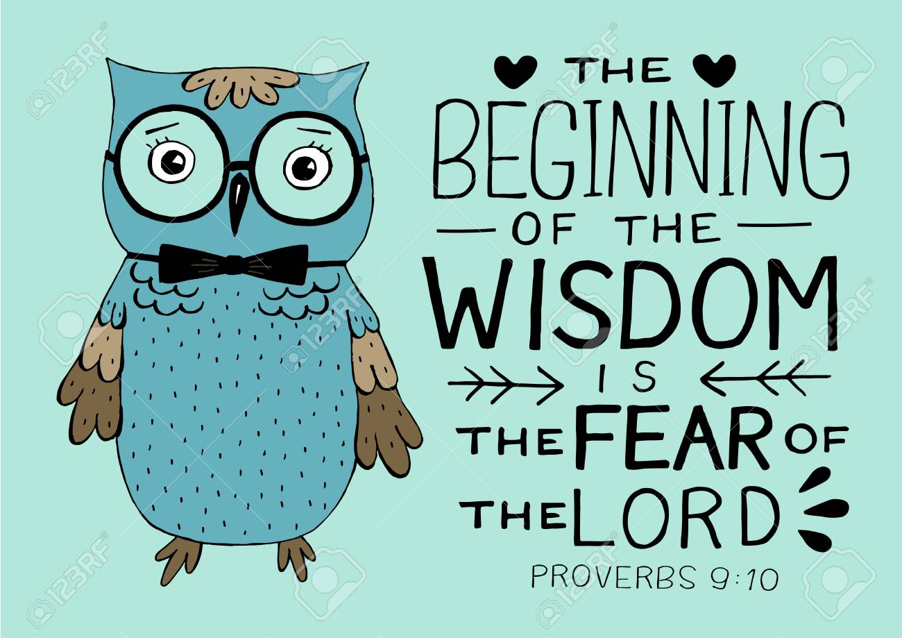 Hand Lettering And Bible Verse The Beginning Of Wisdom The Fear Royalty Free Cliparts Vectors And Stock Illustration Image 122675175