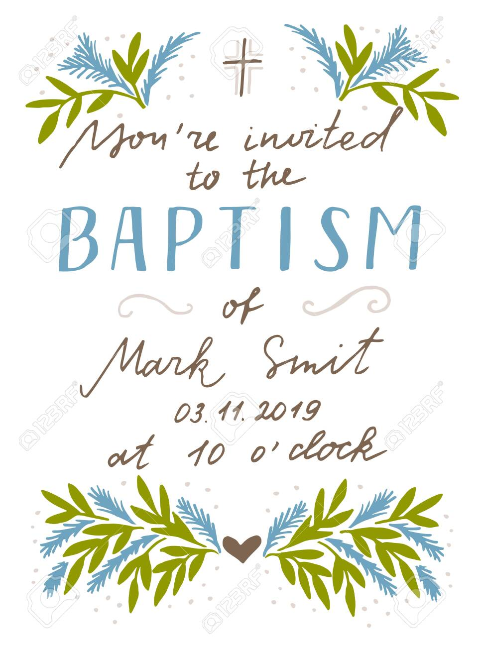 Christian Hand Lettering Quotes Baptism Biblical Background Royalty Free Cliparts Vectors And Stock Illustration Image 137431012