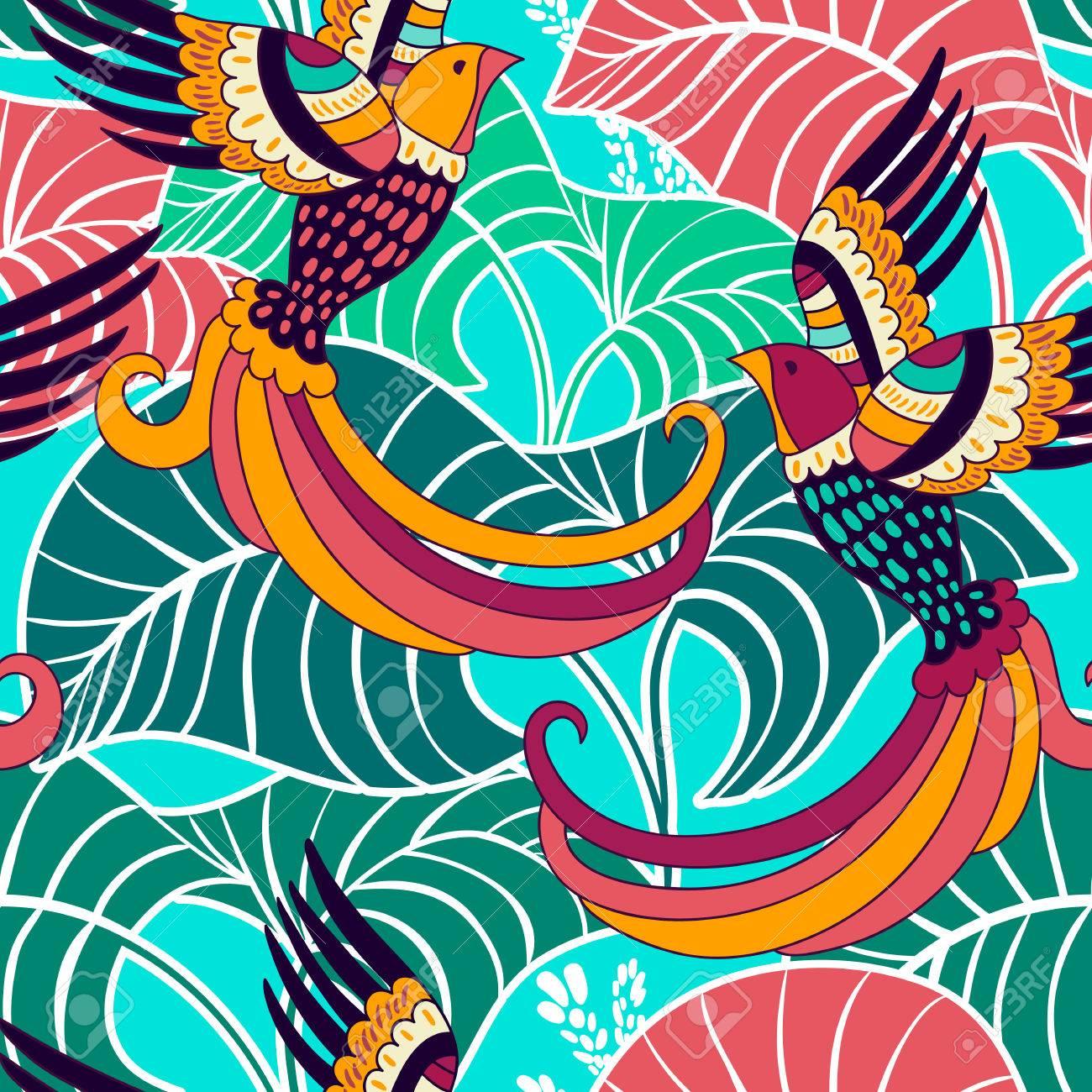 Toile De Fond Coloré, Papier Peint. Tropical Background Floral