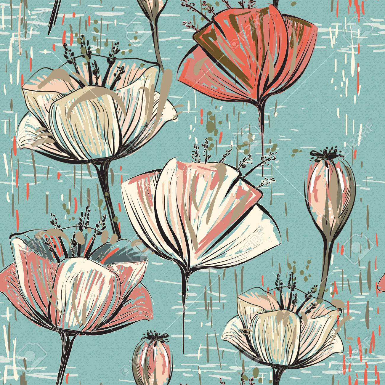 Vector De Tulipanes De Colores Patrón Sin Costura Puede Utilizar Para Fondos De Pantalla Rellenos Fondos De Páginas Web Texturas Superficiales Ilustraciones Vectoriales Clip Art Vectorizado Libre De Derechos Image 71841258