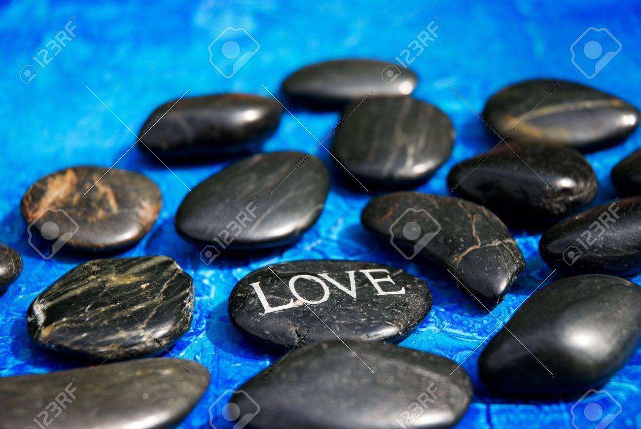engraved stone with word Stock Photo - 3176056