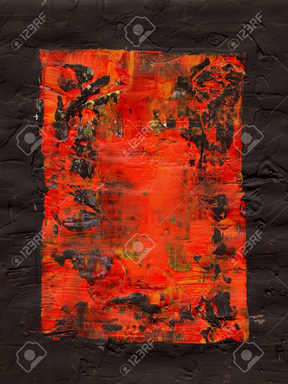 Sfondo Dipinto In Rosso E Nero Telaio Opere Darte è Creato E Dipinto Da Me