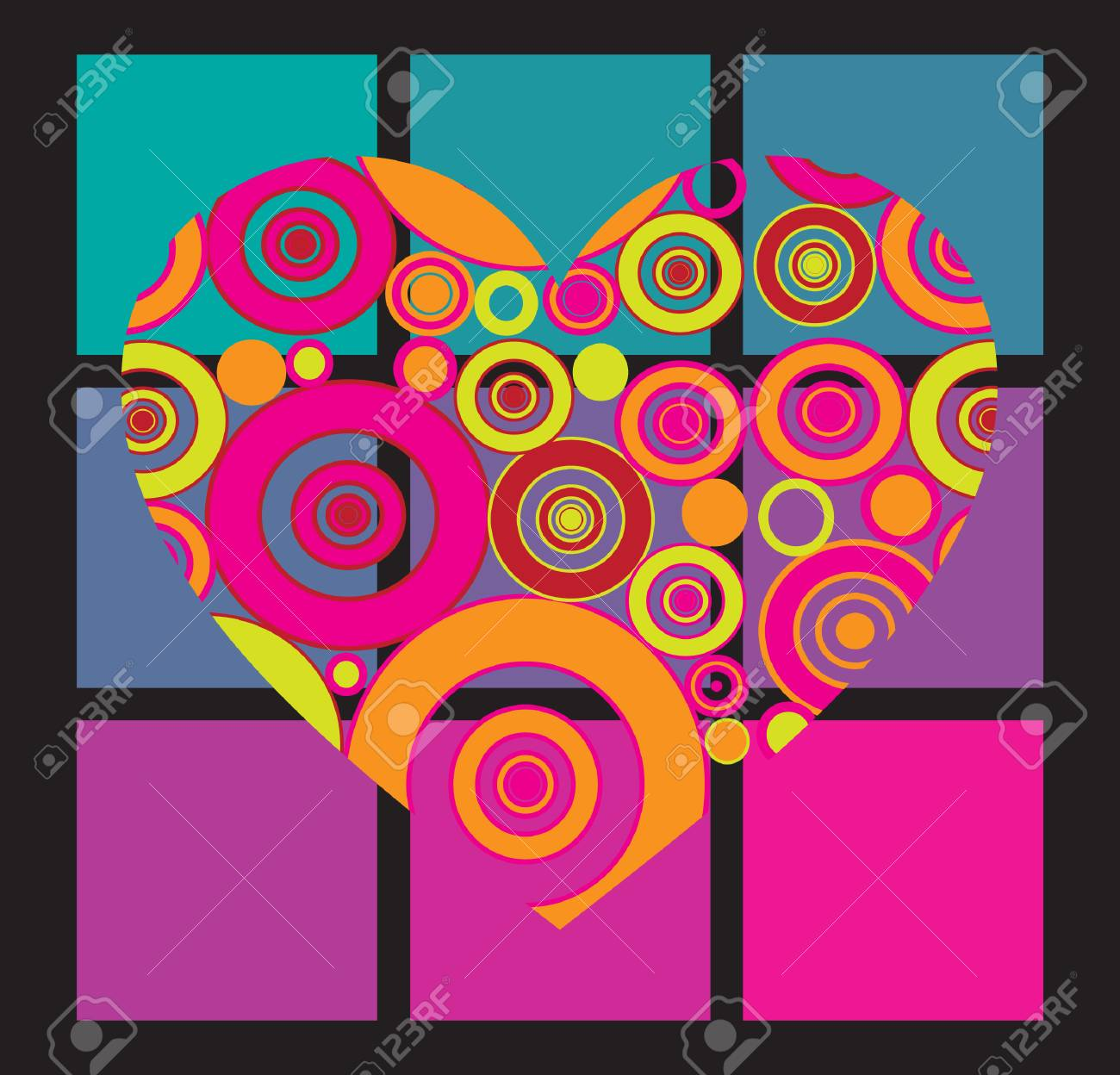 vector illustration with heart Stock Vector - 3981534