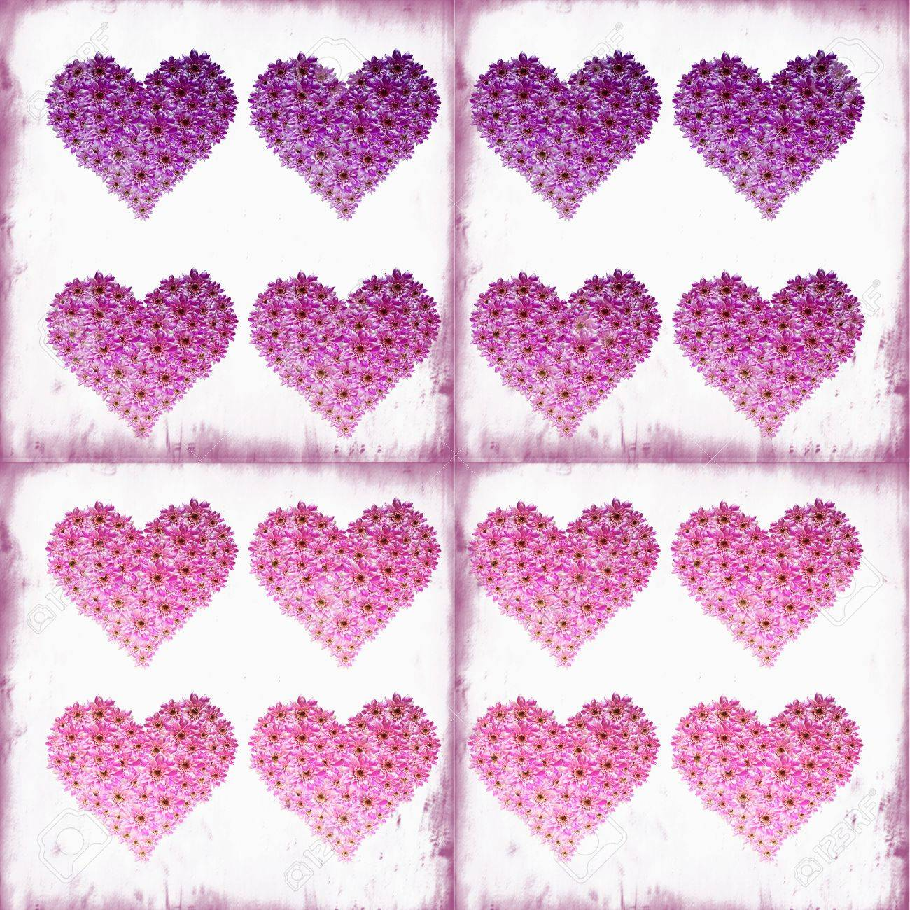 square pattern with flower hearts Stock Photo - 6534725