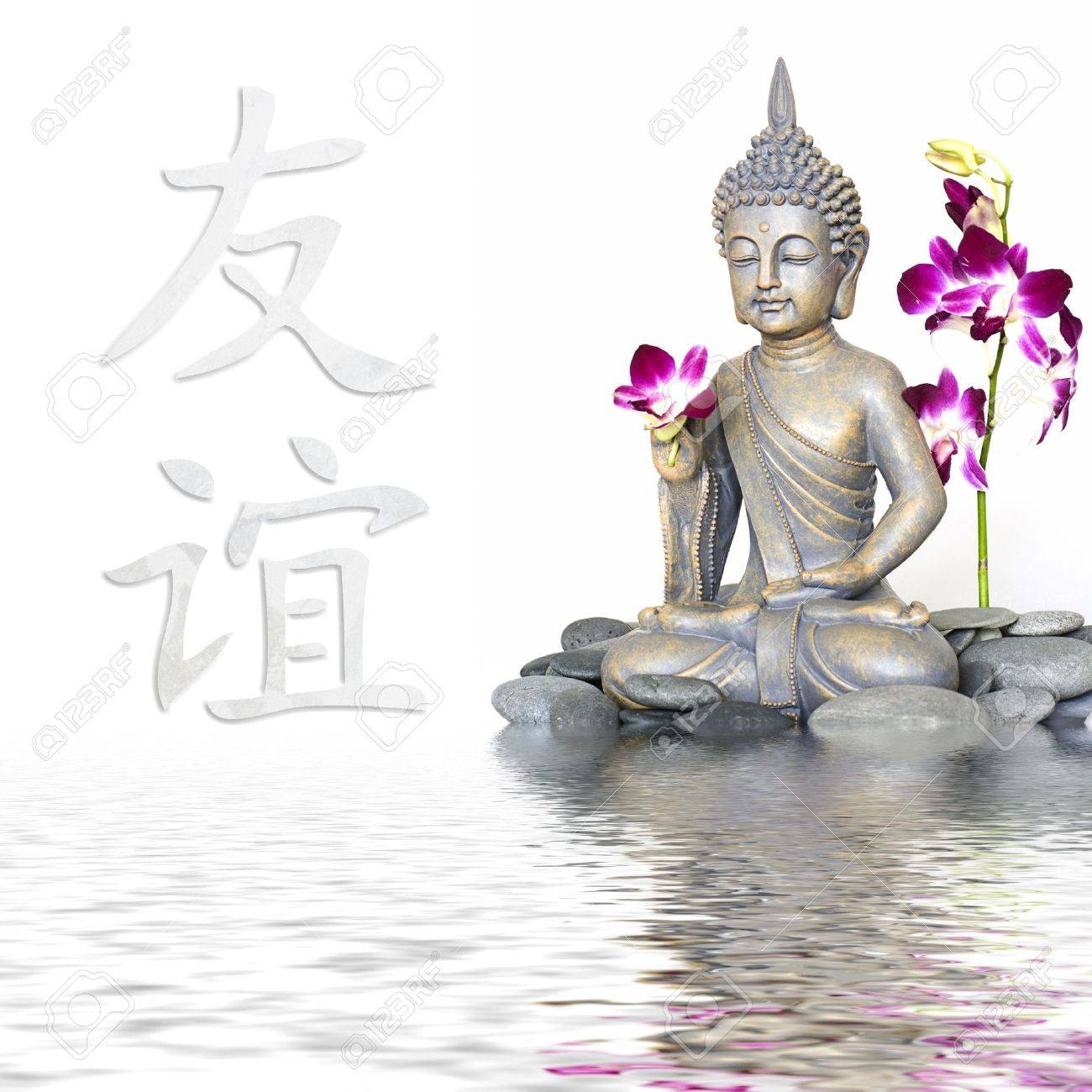 Buddha statue in water chinese symbol for friendship stock photo buddha statue in water chinese symbol for friendship stock photo 6534664 biocorpaavc Images