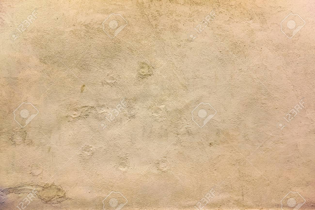 Old Wall With Cracked Parts And New Ivory White Paint On It As ...