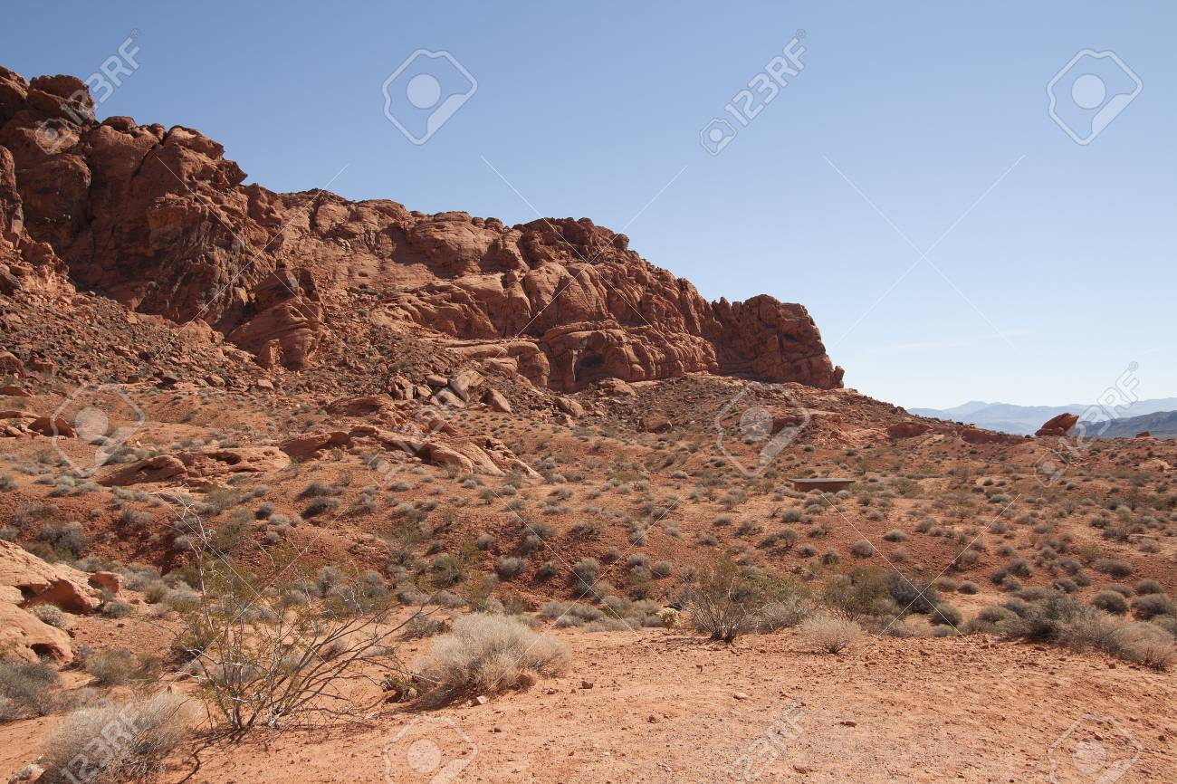 Beautiful desert and mountains of Valley of Fire, Nevada, USA