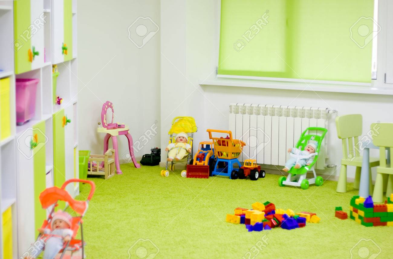 Interior of a modern kindergarten. stock photo picture and royalty