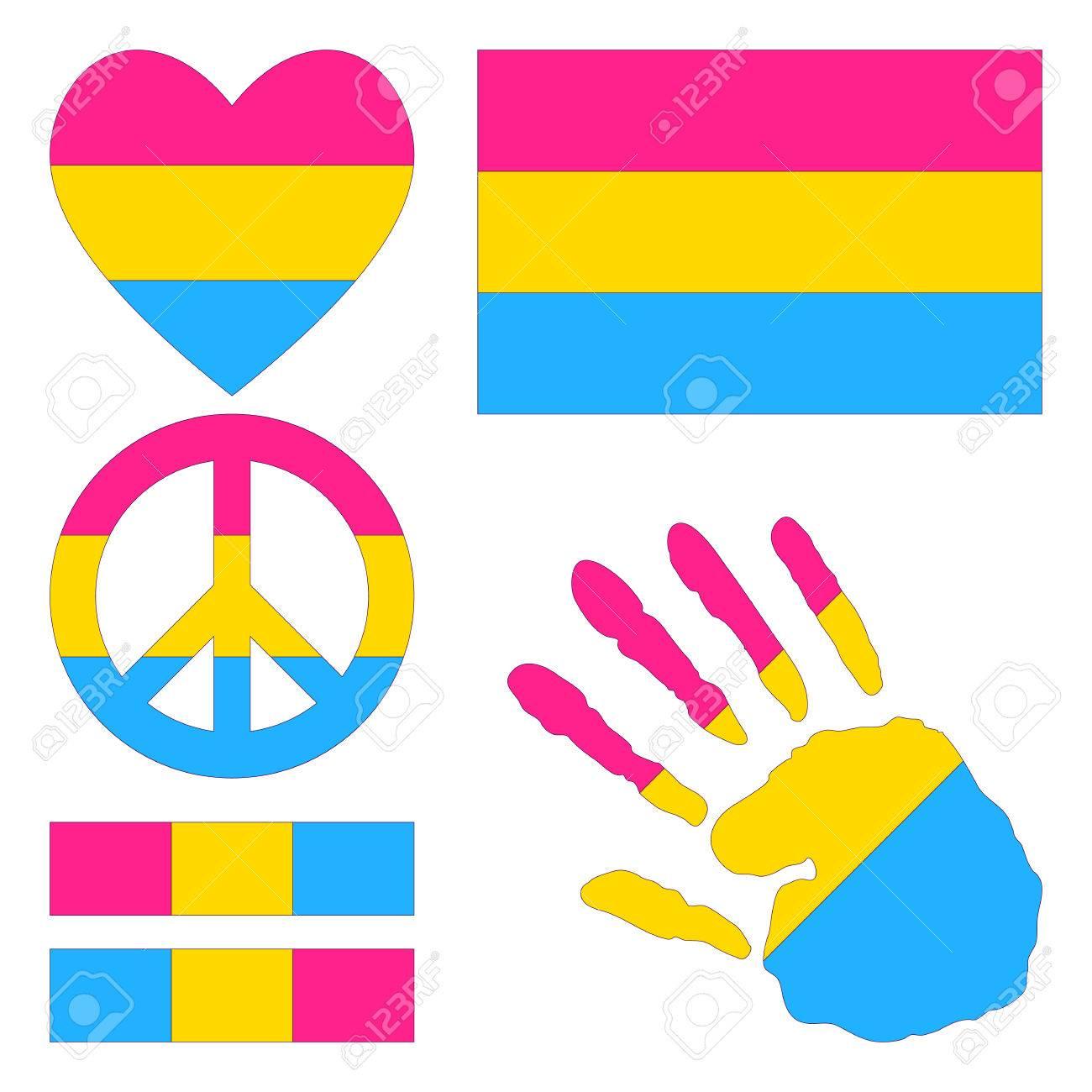 Pansexual flag art