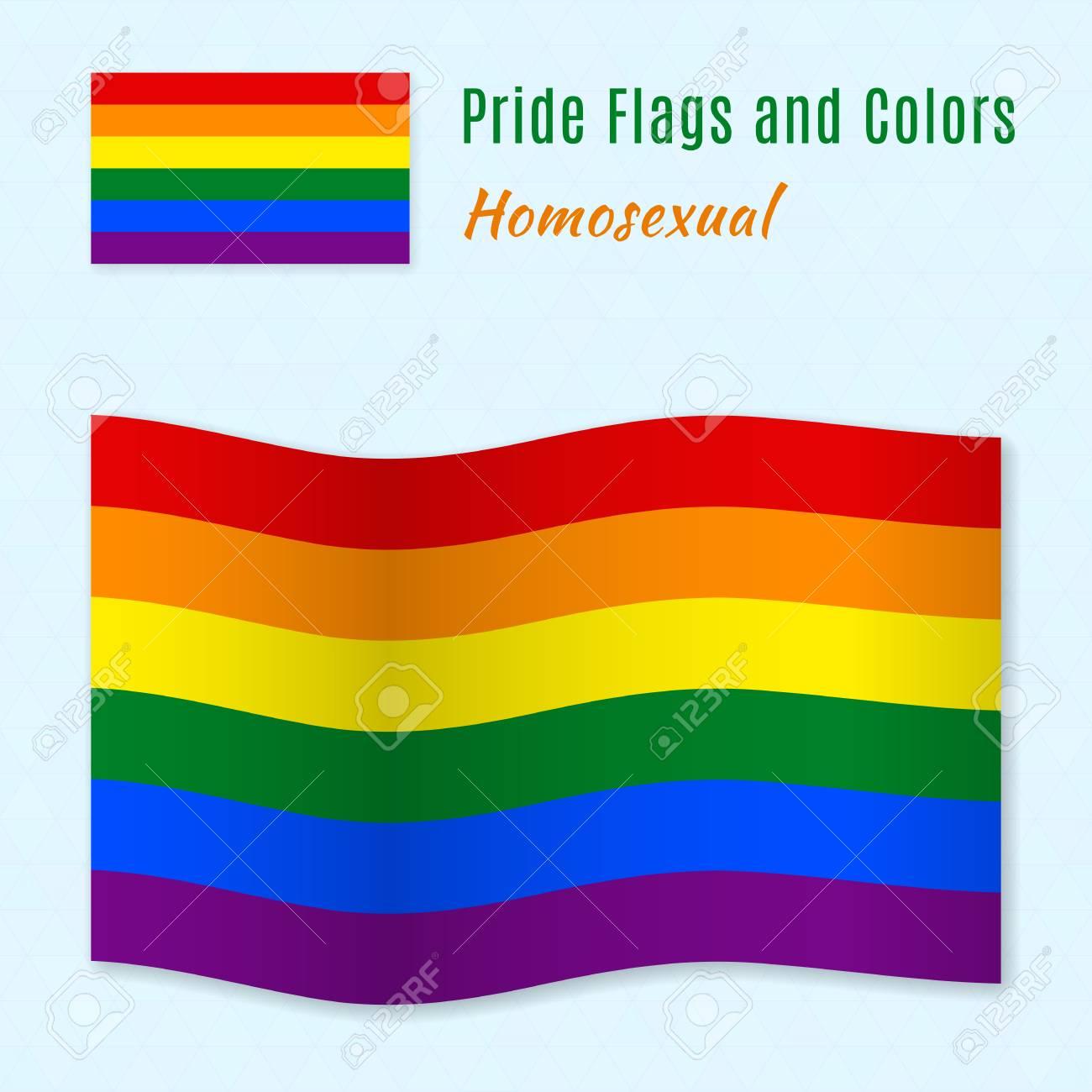 bandera del orgullo gay color