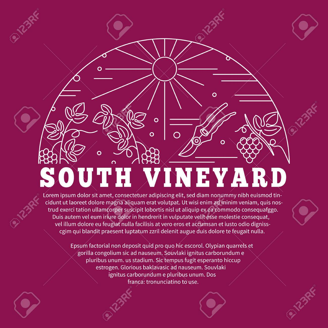 Winemaking Wine Tasting Poster With Winery Symbols In Circle