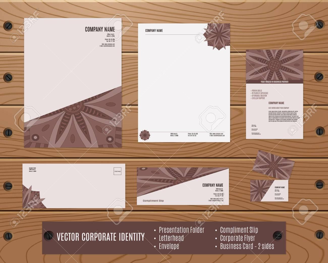Sammlung Von Corporate Identity: Präsentationsmappe, Briefpapier ...