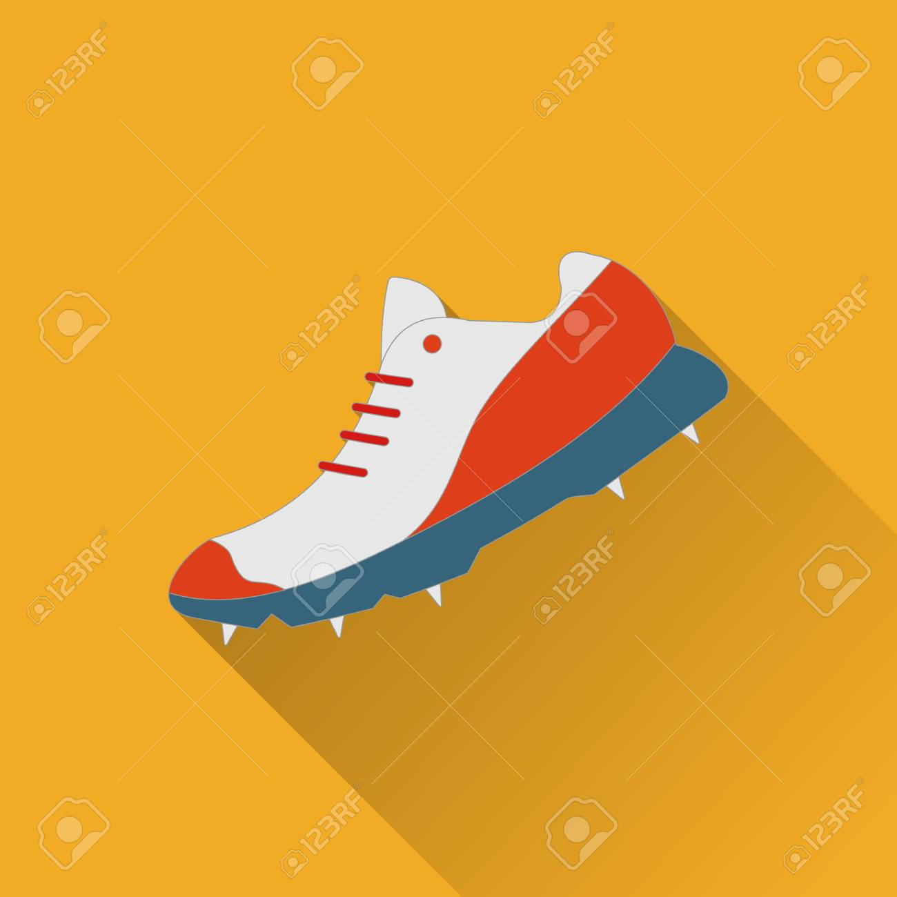 cricket game equipment flat icons composition professional sport