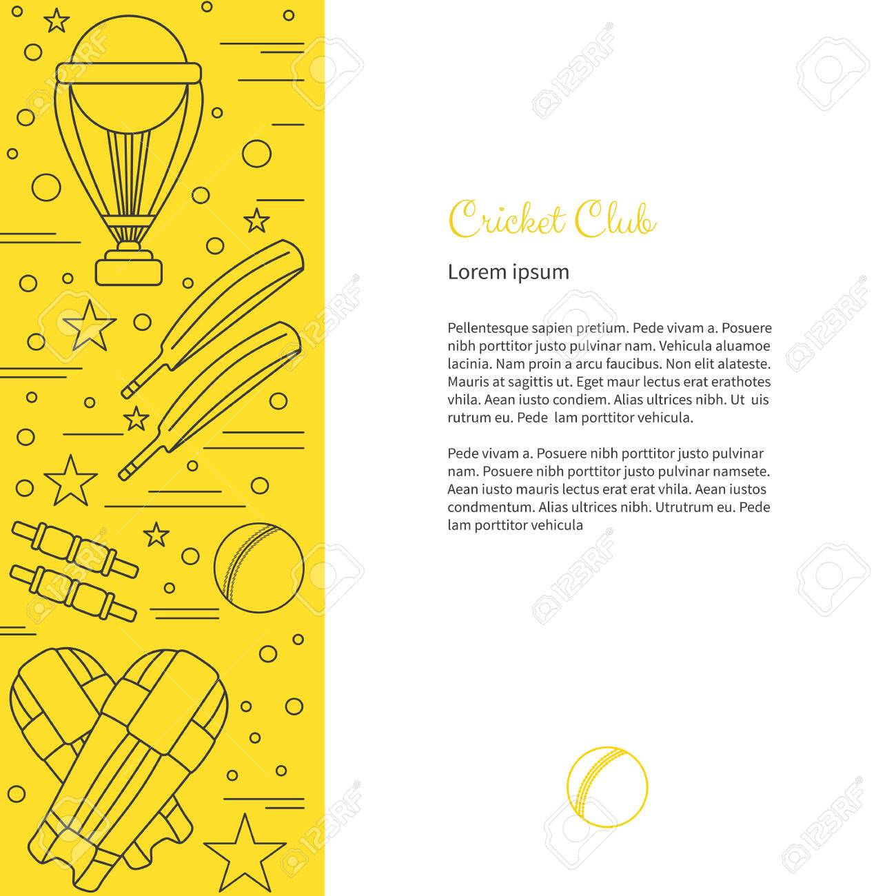 Flyer poster with cricket symbols and objects and with place for flyer poster with cricket symbols and objects and with place for text vector sport biocorpaavc Images