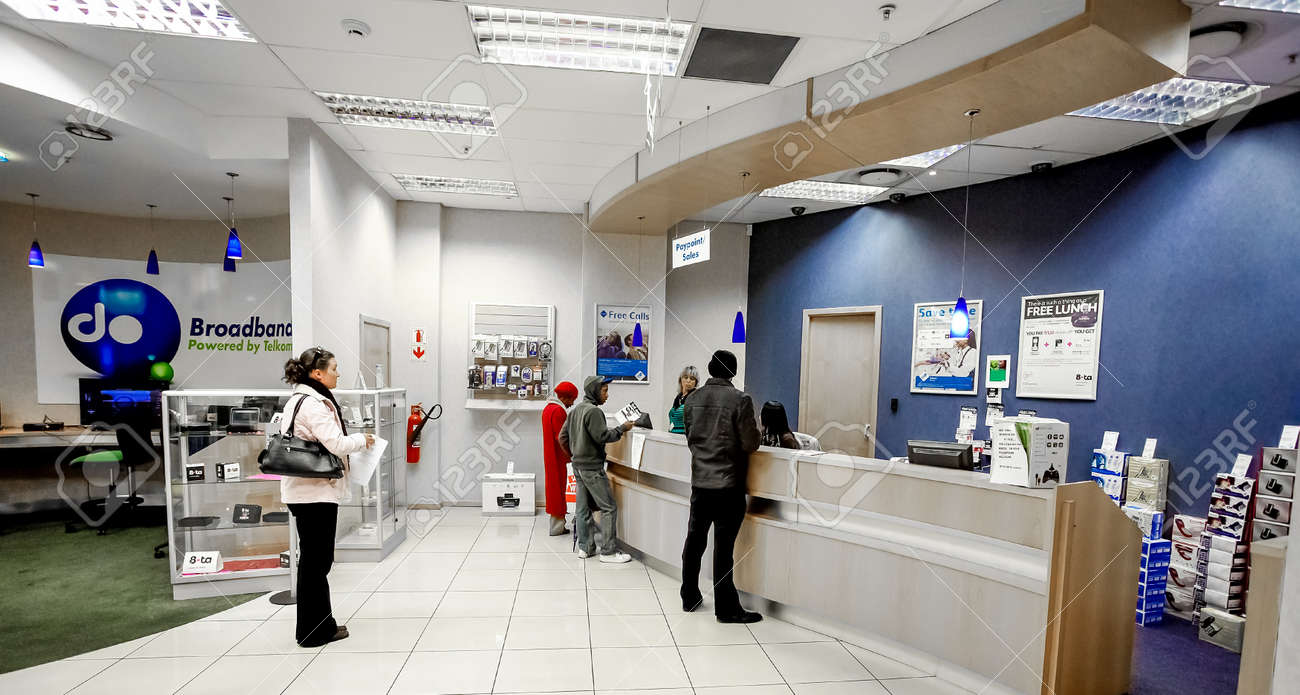 Johannesburg, South Africa - July 05 2011: Inside interior of a mobile cell phone store in a Mall - 149031363