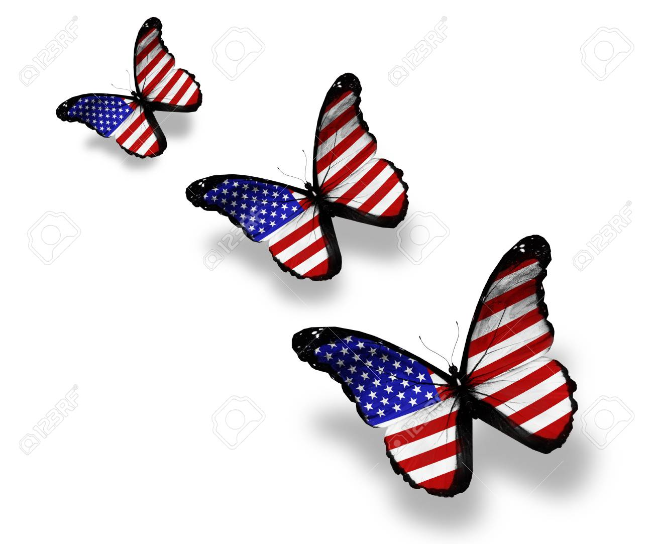 9b07b18bce0 Stock photo three american flag butterflies isolated on white jpg 1300x1083 American  flag butterfly