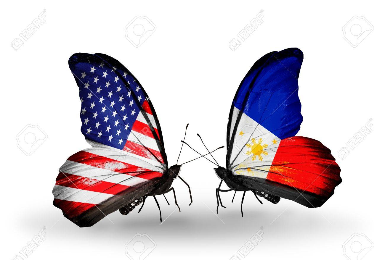 Symbol of philippine flag images symbol and sign ideas two butterflies with flags on wings as symbol of relations usa two butterflies with flags on buycottarizona