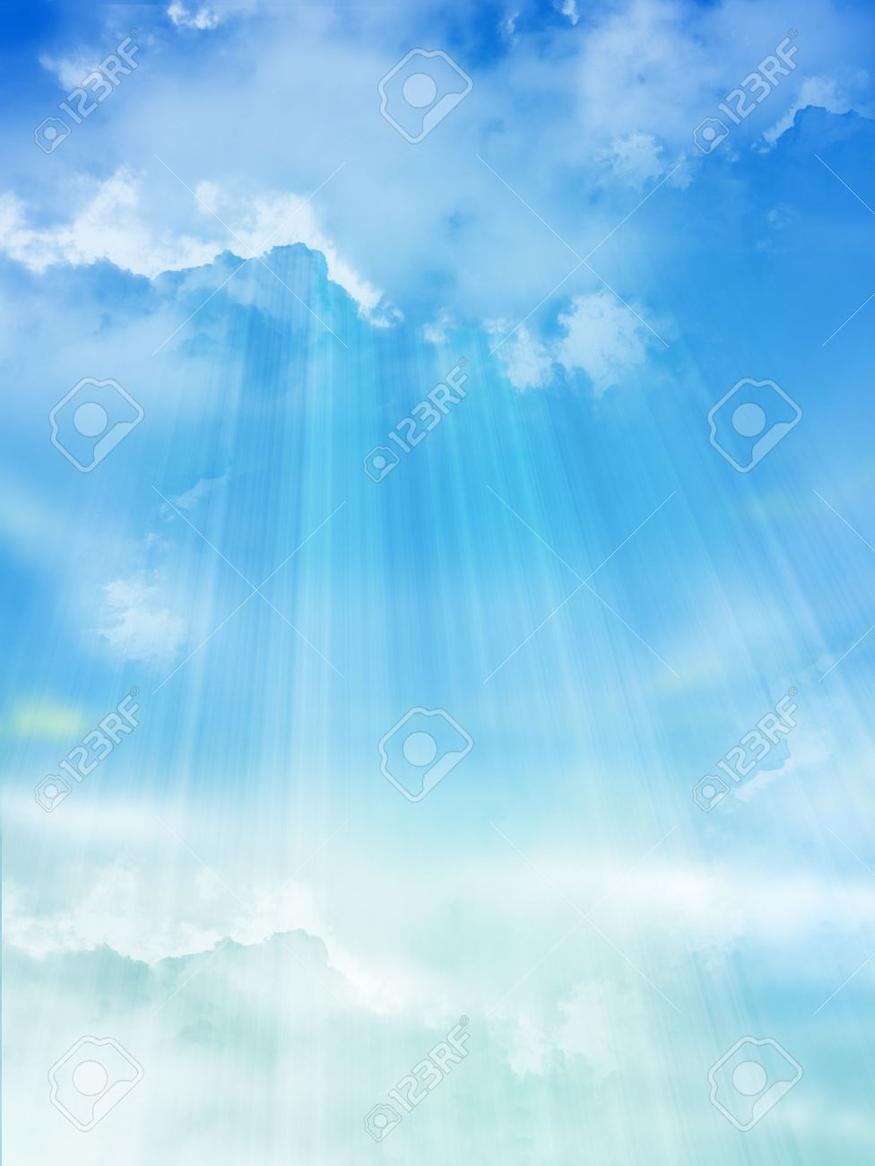 the blue sky with clouds background stock photo picture and