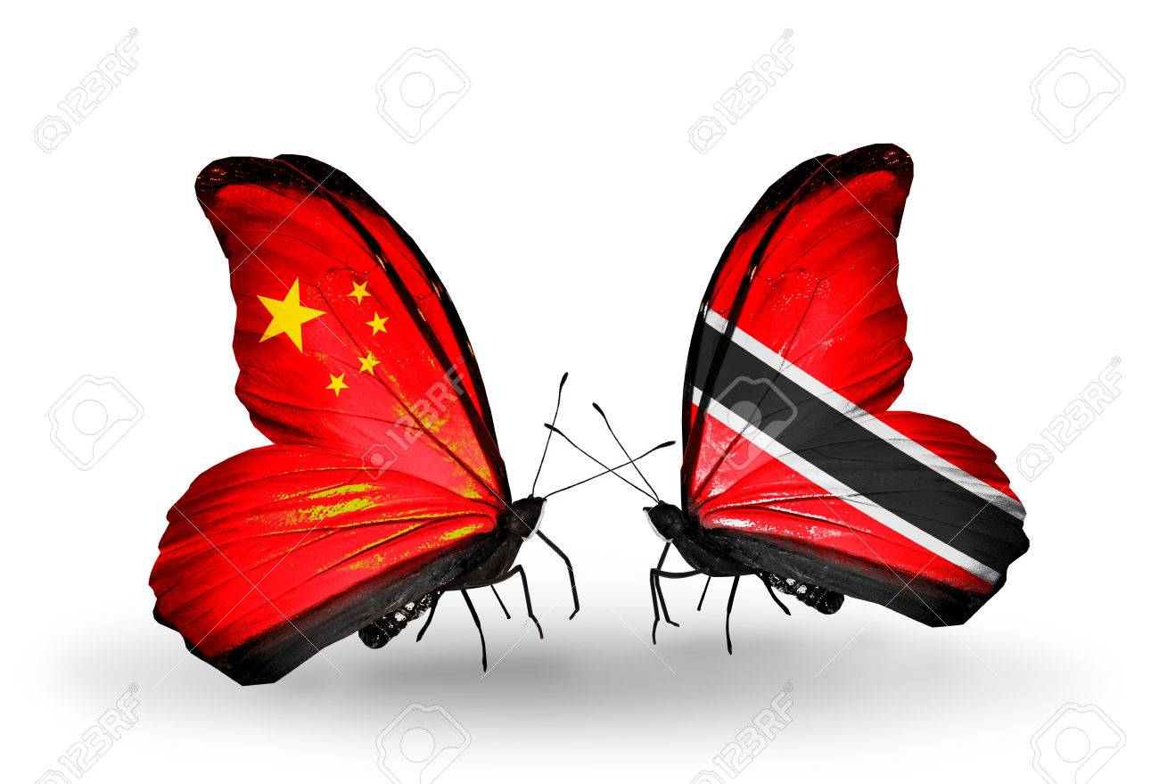 Flag Two Relation Butterfly Politics Politician World Stock