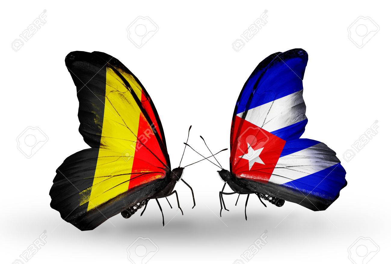 /sunshinesmile140101569/25135662-Two-butterflies-with-flags-on-wings-as-symbol-of-relations-Belgium-and-Cuba-Stock-Photo.jpg