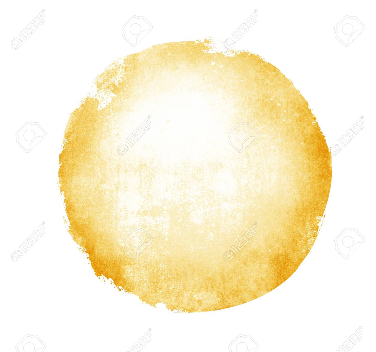 Watercolor circle on white as background - 135649526