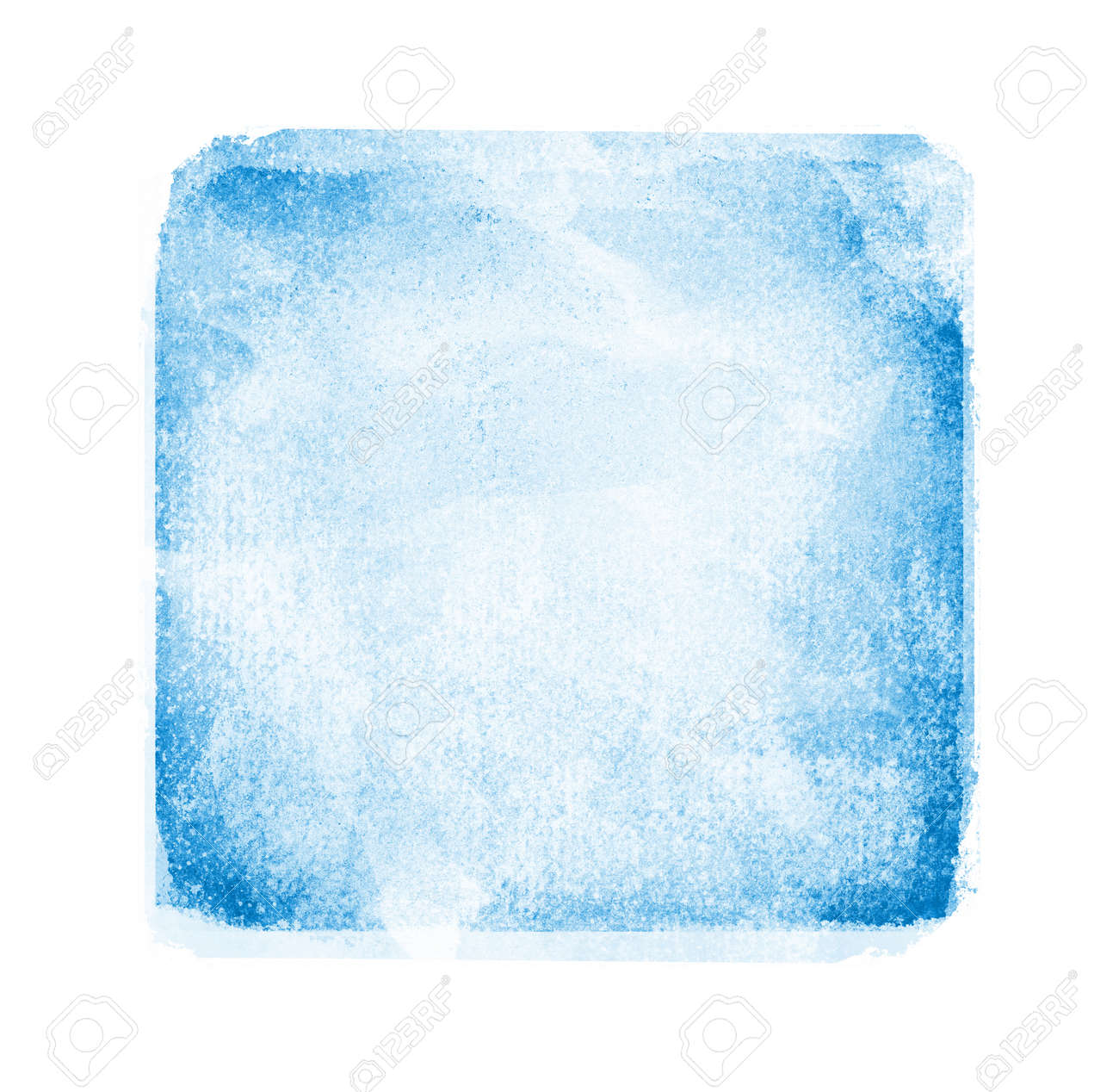 Watercolor sqaure on white background - 138165518