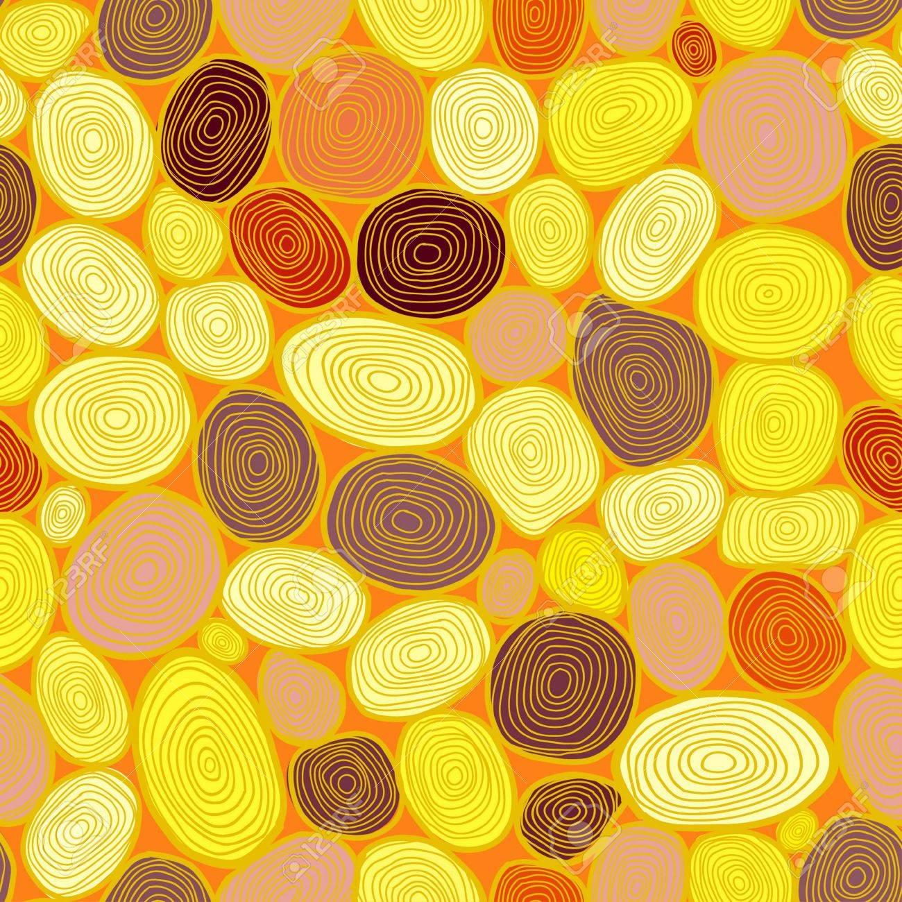 Seamless circles hand-drawn pattern, circles background Stock Vector - 18661710