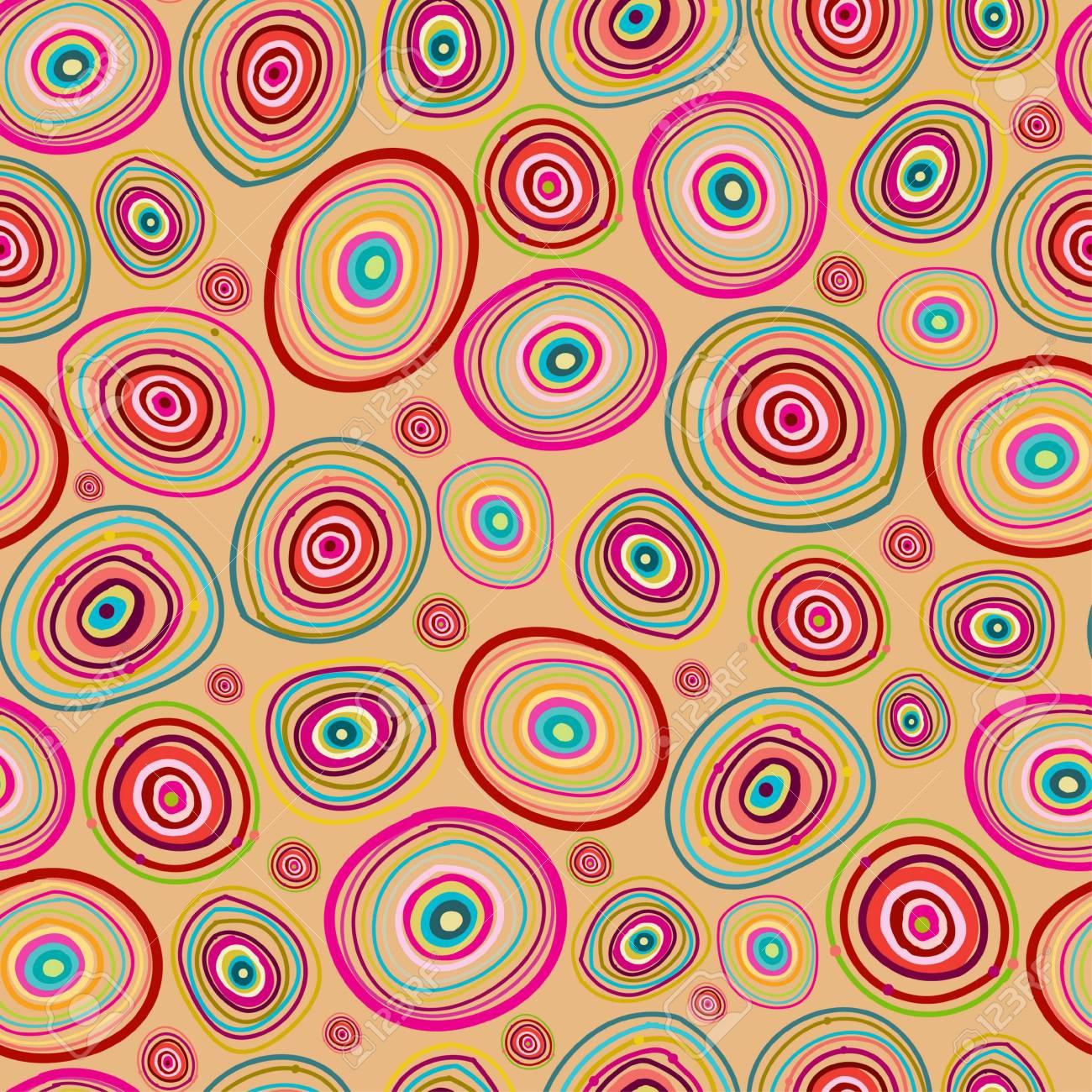 Seamless circles hand-drawn pattern Stock Vector - 18661732