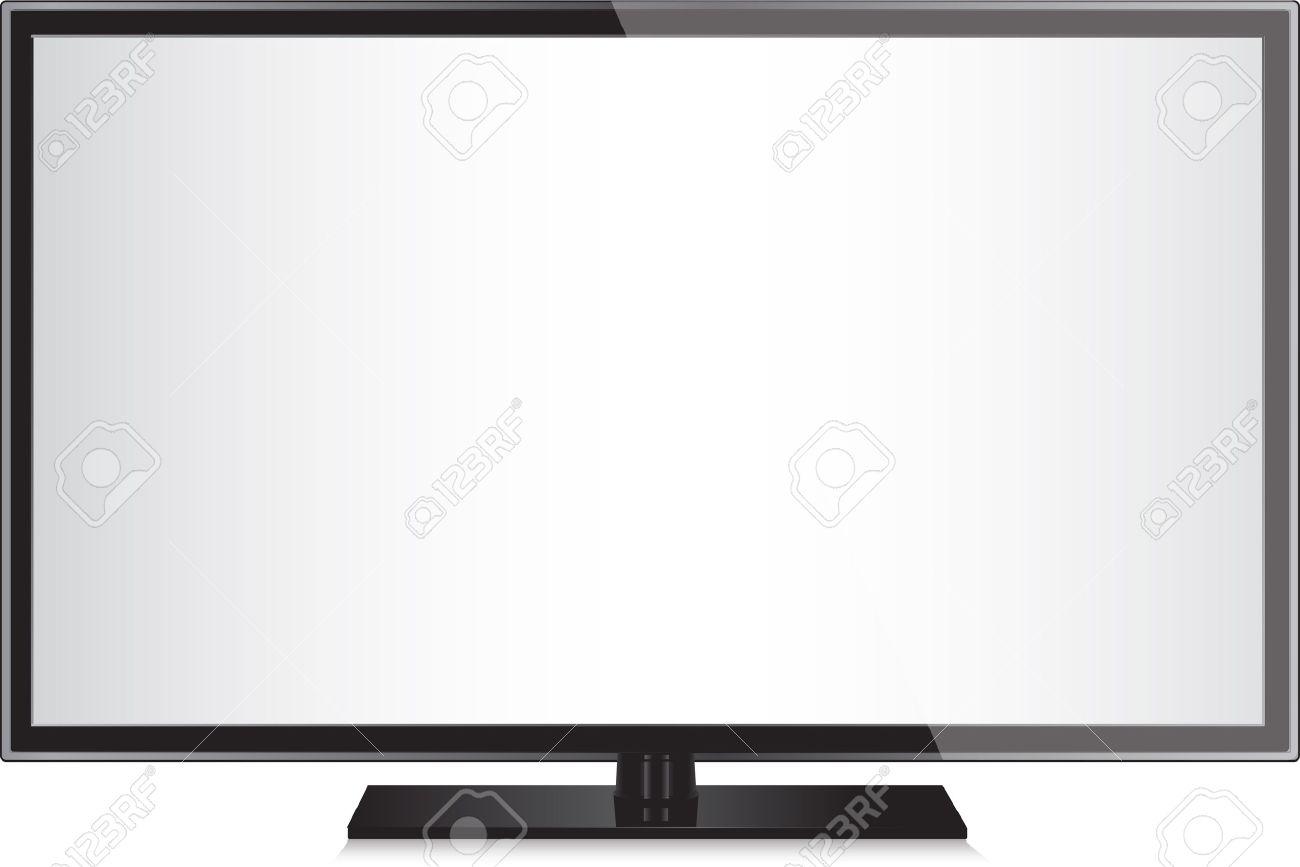 tv フラット画面の液晶、プラズマの現実的なイラスト。 ロイヤリティ