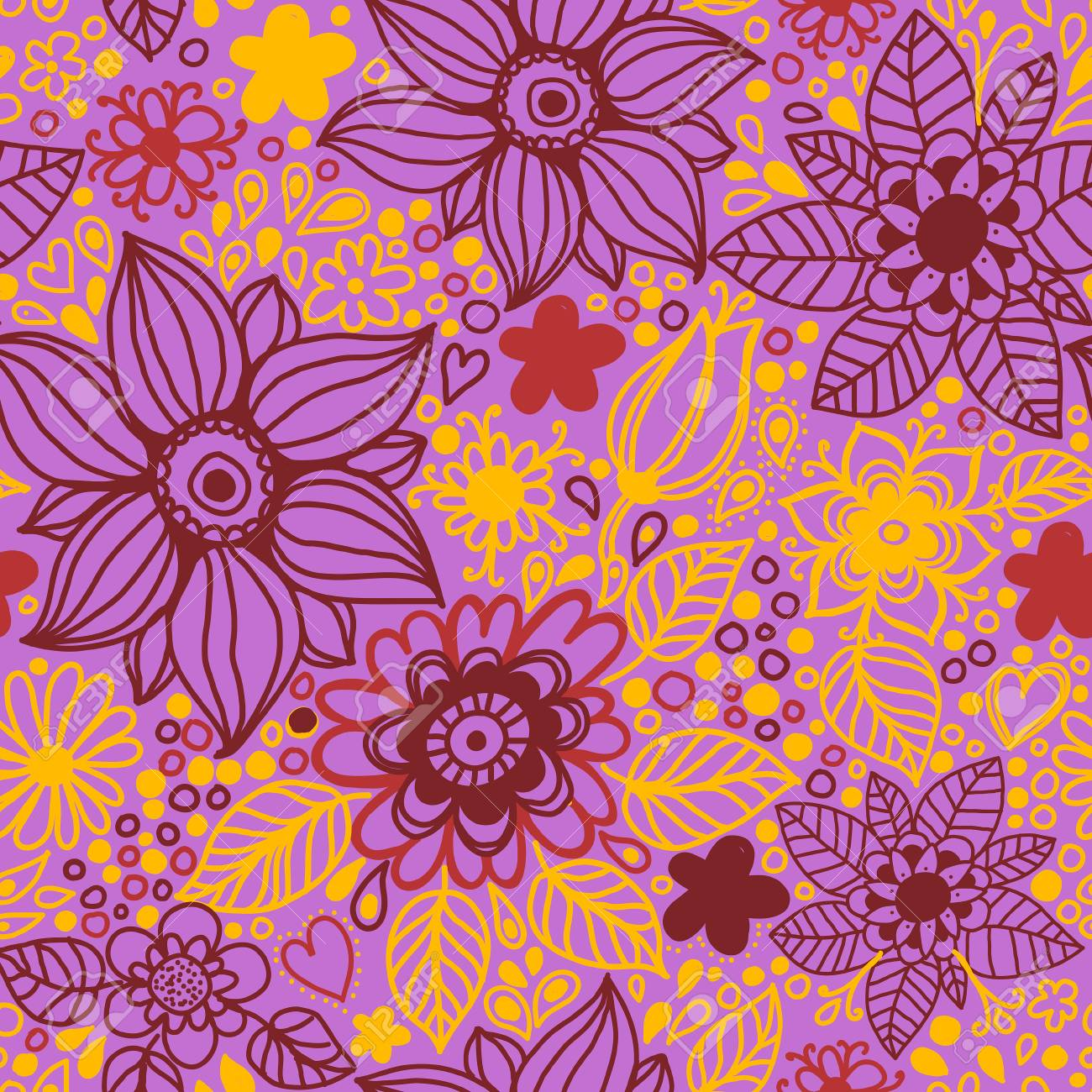 Floral Seamless PatternSeamless Texture With FlowersSeamless Pattern Can Be Used For Wallpaper