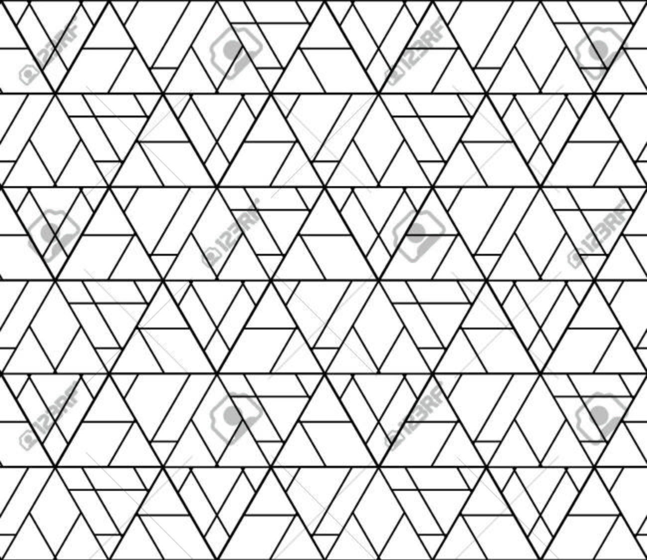 Vector black and white seamless abstract pattern ,Modern textile print with illusion, modern texture, Symmetrical repeating background - 43593810