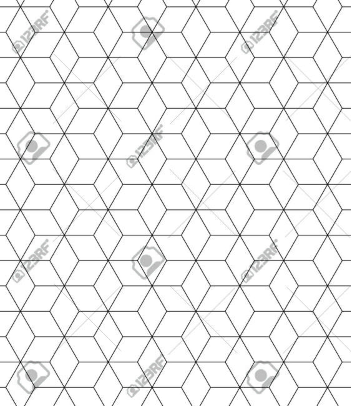 Vector modern seamless pattern sacred geometry, black and white print textile with illusion, abstract texture, monochrome fashion design - 43898334
