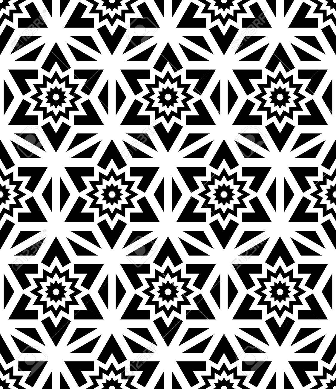 Black bed sheets pattern - Vector Vector Modern Seamless Pattern Floral Black And White Textile Print Stylish Background Abstract Texture Monochrome Fashion Design Bed Sheets