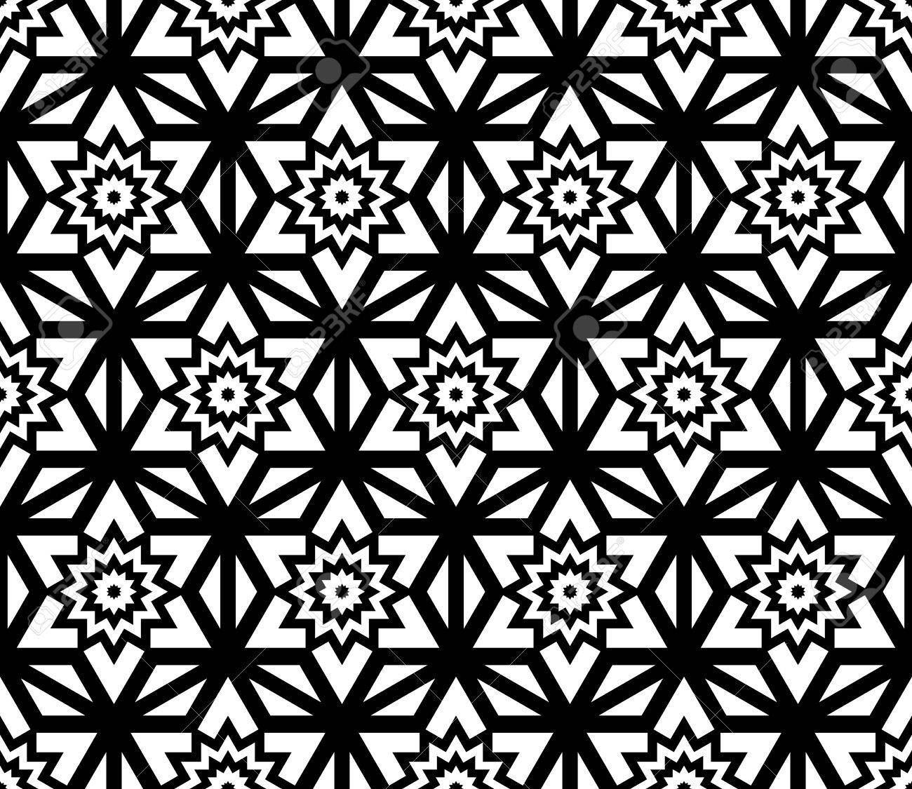 Black and white bed sheets texture - Vector Vector Modern Seamless Pattern Flower Black And White Textile Print Stylish Background Abstract Texture Monochrome Fashion Design Bed Sheets