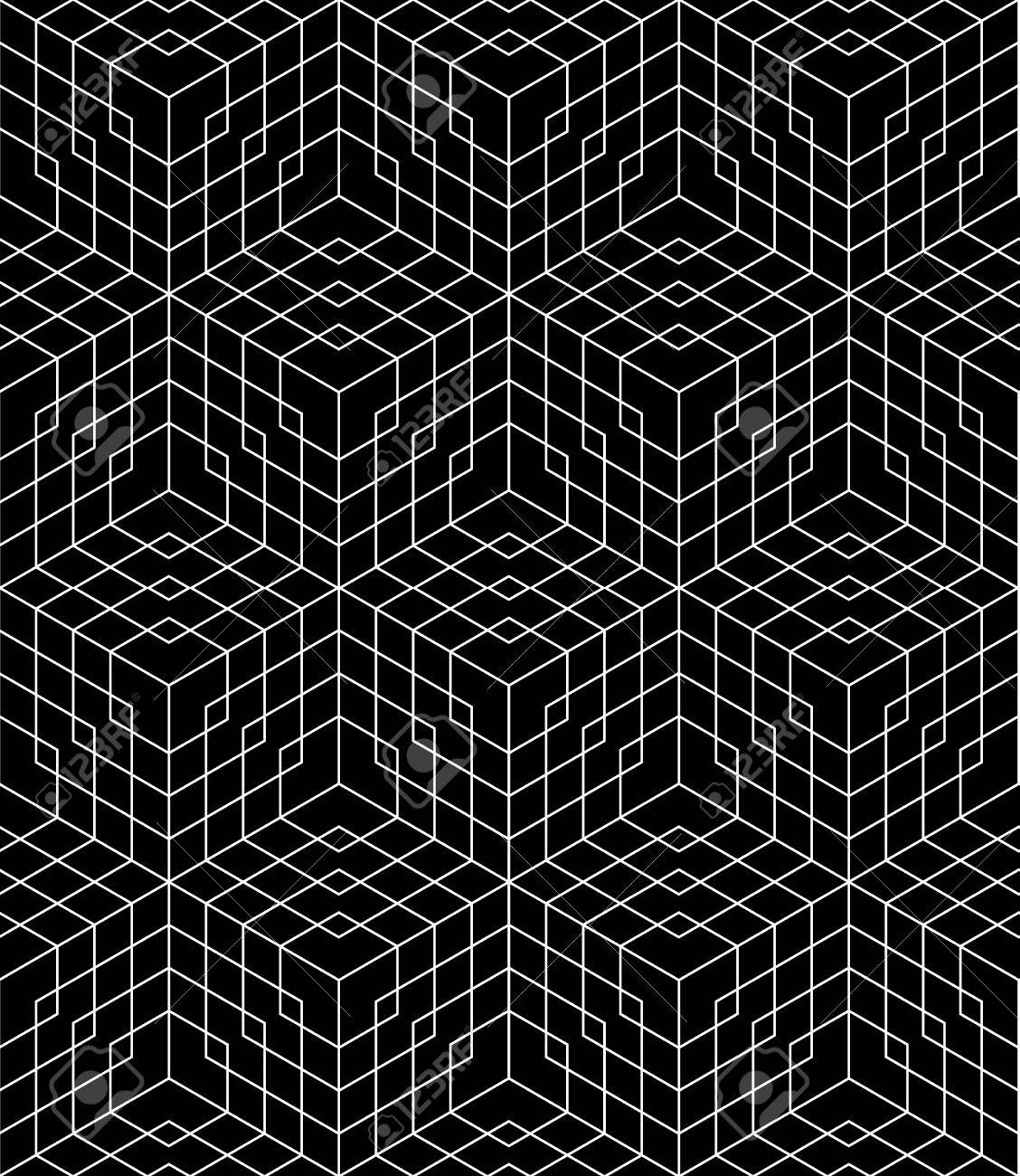 Bed sheet pattern texture - Vector Vector Modern Seamless Grid Pattern Black And White Textile Print Stylish Background Abstract Texture Monochrome Fashion Design Geometry Bed