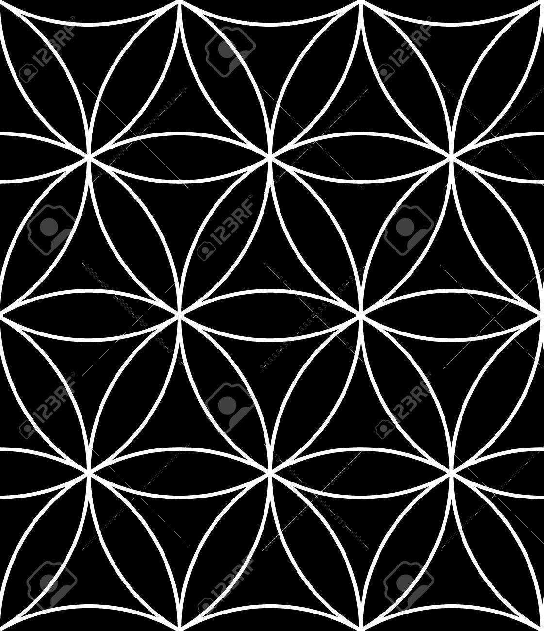 Black bed sheets pattern -  Black And White Textile Print Stylish Background Abstract Texture Monochrome Fashion Design Sacred Geometry Bed Sheets Or Pillow Pattern