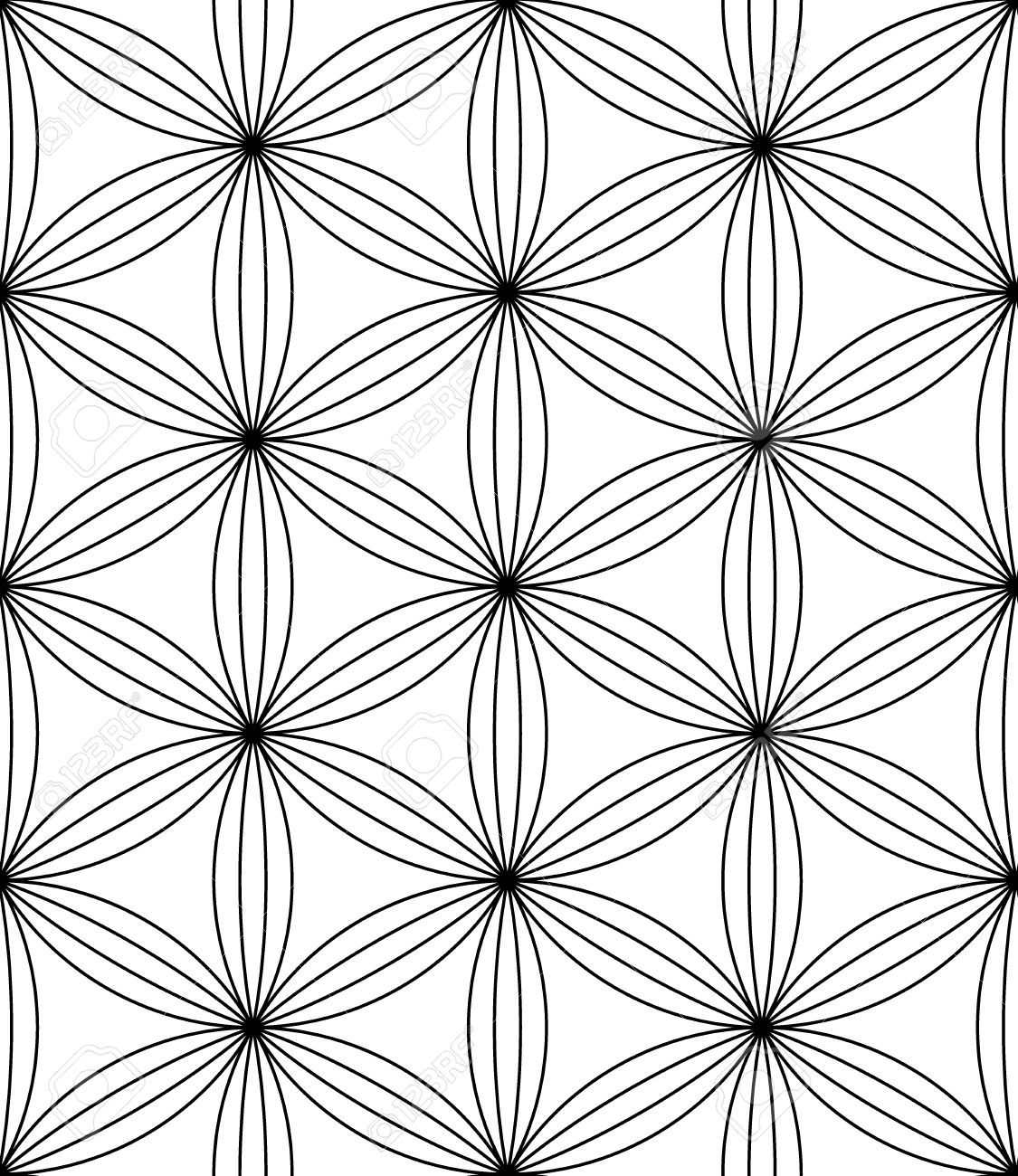 Black bed sheet texture seamless - Vector Vector Modern Seamless Pattern Flower Of Life Black And White Textile Print Stylish Background Abstract Texture Monochrome Fashion Design