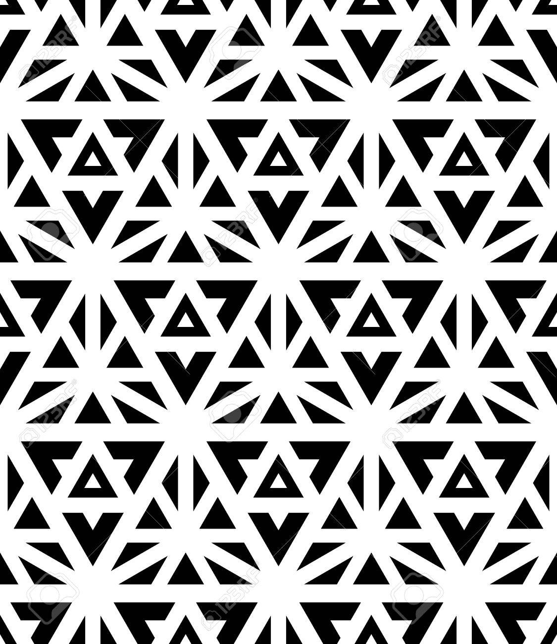 Black bed sheets pattern - Vector Vector Modern Seamless Pattern Black And White Textile Print Stylish Background Abstract Texture Monochrome Fashion Design Sacred Geometry Bed