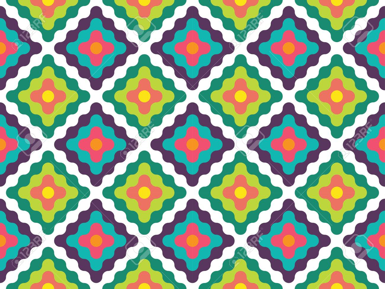 Vector Moderne Couleur Abstrait Geometrique Papier Peint Imprime
