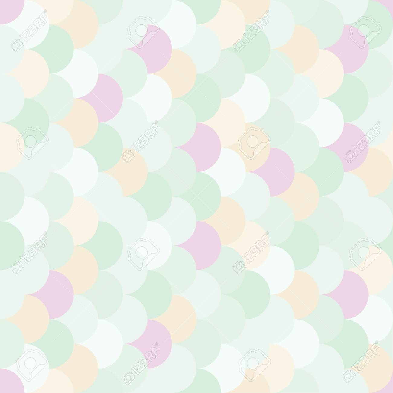 Vector modern seamless colorful geometry pattern overlapping circles, color subtle abstract geometric background, trendy multicolored print, retro texture, hipster fashion design - 45453200