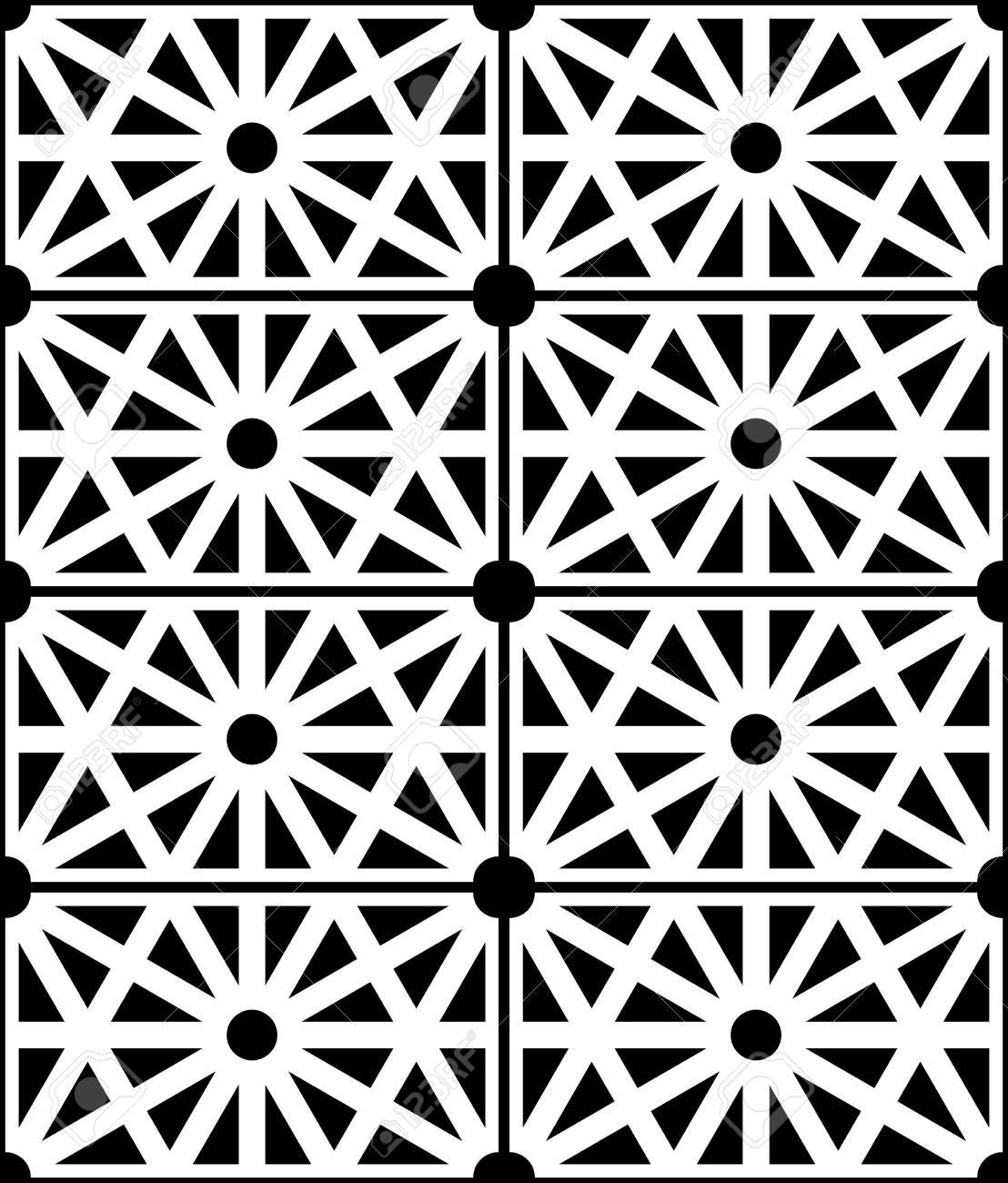 Vector Structure Moderne Seamless Pattern Geometrie Sacree Noir Et Blanc Abstrait Geometrique Impression A La Mode Monochrome Retro Texture Design