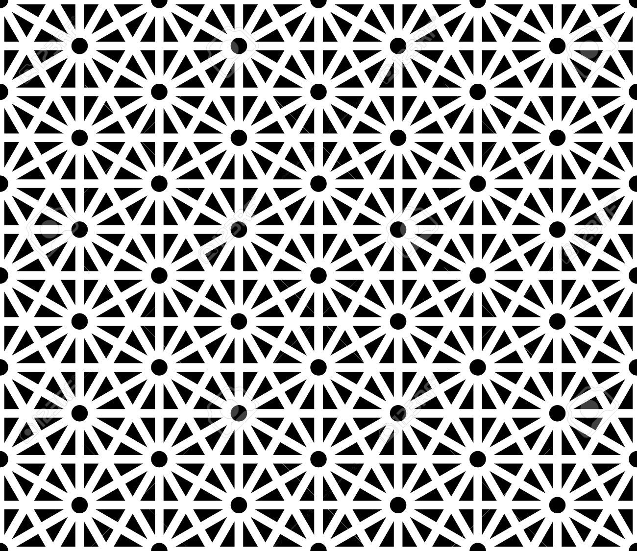 Good Vector   Vector Modern Seamless Sacred Geometry Pattern, Black And White  Abstract Geometric Background, Trendy Print, Monochrome Retro Texture, ...